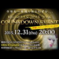 2015/2016 CountDown party@HILLS  - K's HILLS - 1000x1000 232.6kb