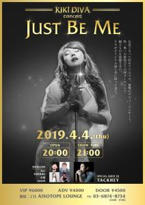KIKI DIVA concert ~JUST BE ME~  - AiSOTOPE LOUNGE - 1721x2435 465kb