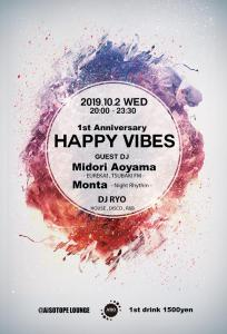 HAPPY VIBES  - 1st Anniversary -  - AiSOTOPE LOUNGE - 680x1000 180.5kb
